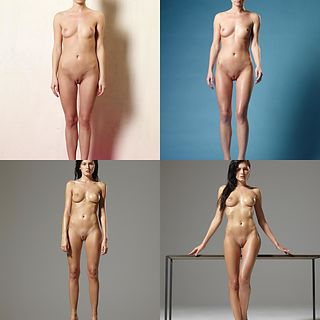 Naked standing