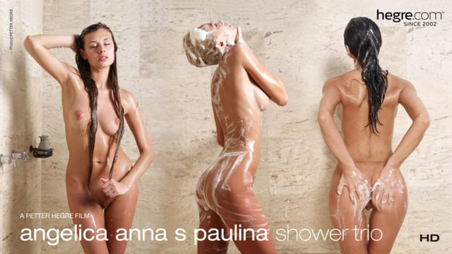 Angelica Anna S Paulina Trio en la Ducha