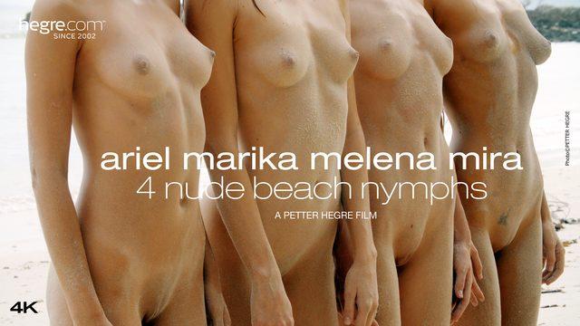 Ariel Marika Melena Mira 4 Nackte Strandnymphen