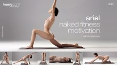 Ariel Nackte Fitness-Motivation