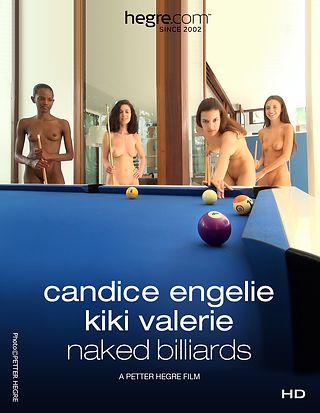 Candice Engelie Kiki Valérie Billards nus