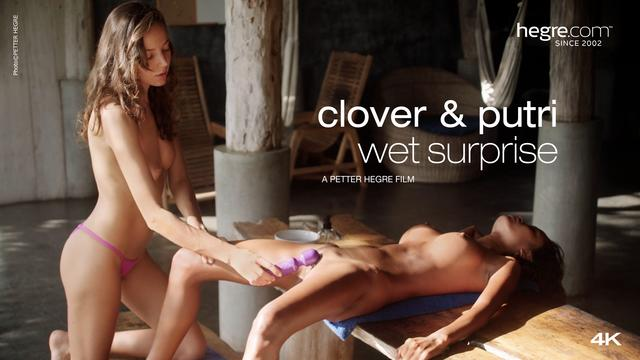Clover And Putri Wet Surprise
