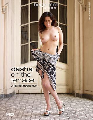Dasha auf der Terrasse