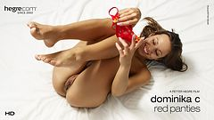 Dominika C Red Panties