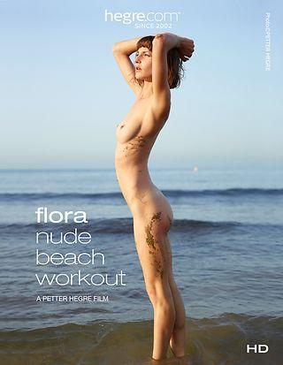 Flora Nude Beach Workout