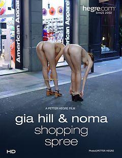 Gia Hill And Noma juerga de compras en American Apparel
