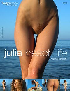 Julia vida en la playa