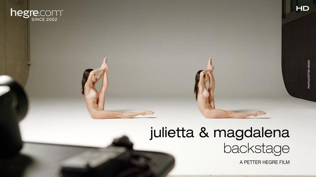 Julietta and Magdalena Backstage