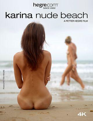 Karina Nue sur la plage