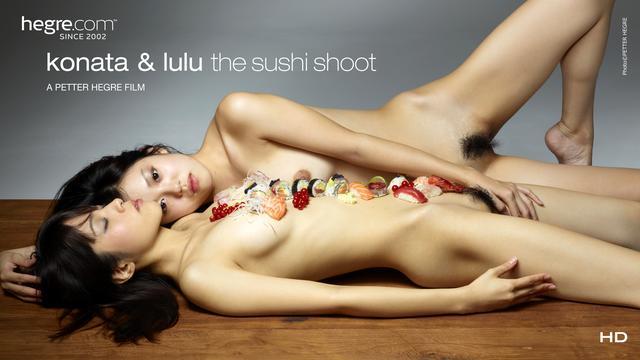 Konata y Lulu Escena Sushi