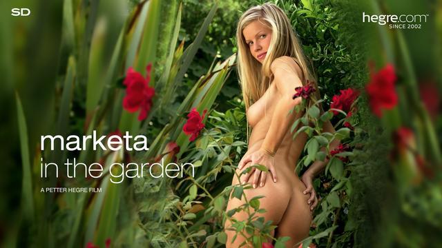 Marketa in the garden