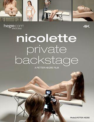 Nicolette Private Backstage part 1