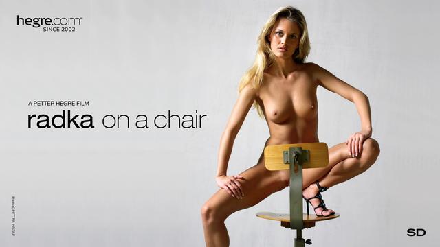 Radka on a chair