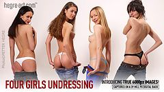 4 girls undressing