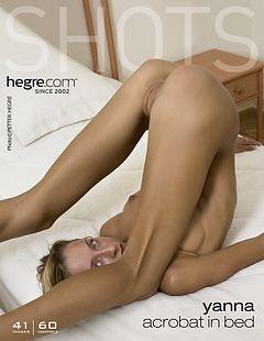 Acrobat in bed