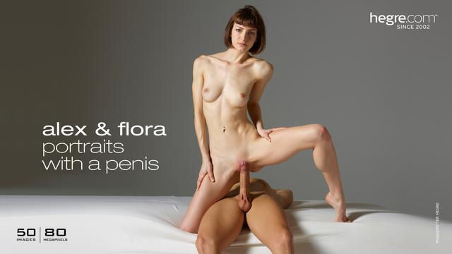 Alex and Flora portraits with a penis