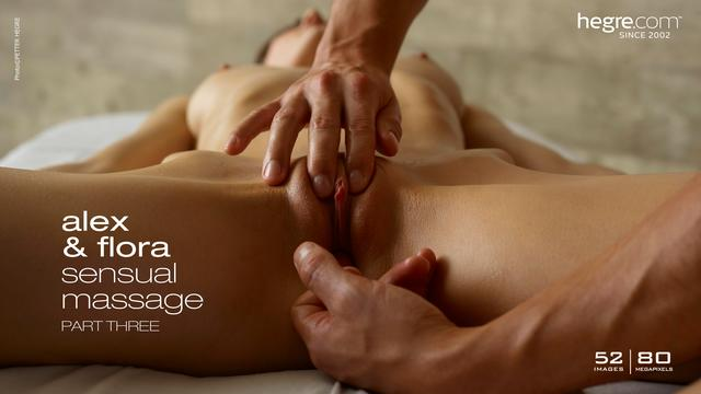 Alex and Flora sensual massage part 3