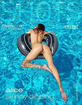 Alice skinny dipping