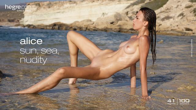 Alice sun sea nudity