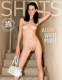 Aliona white purse