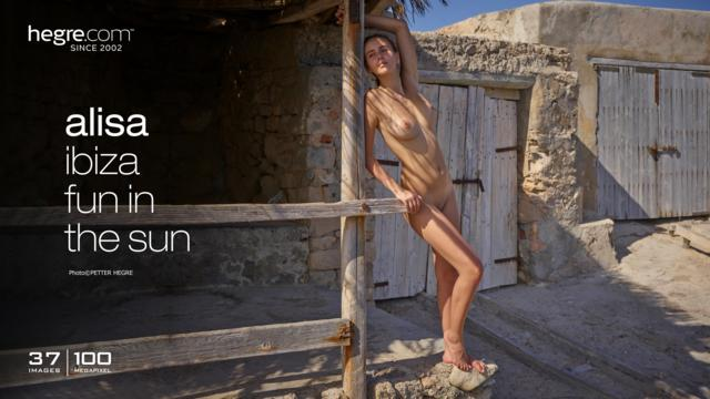 Alisa Ibiza fun in the sun