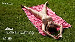 Alisa nude sunbathing