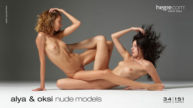 Alya and Oksi nude models