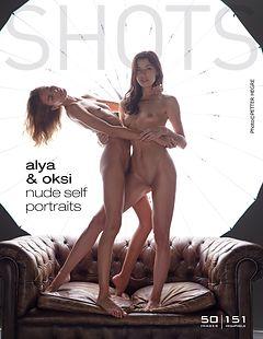 Alya und Oksi Nackte Selbstporträts