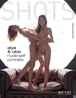 Alya and Oksi nude self portraits