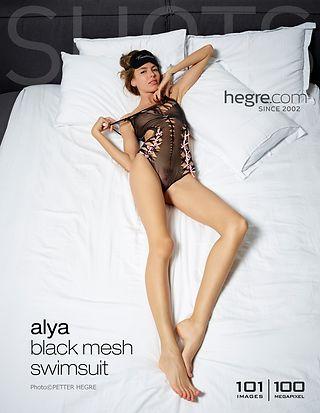 Alya Black mesh swimsuit