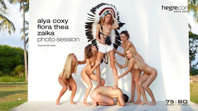 Alya Coxy Flora Thea Zaika photo session