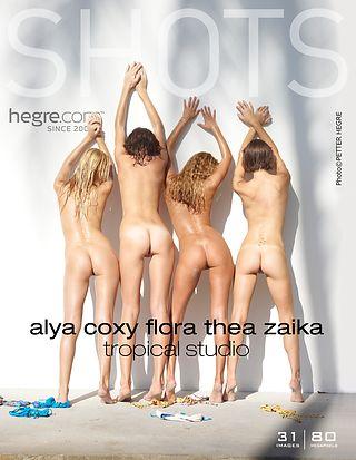 Alya Coxy Flora Thea Zaika studio tropical