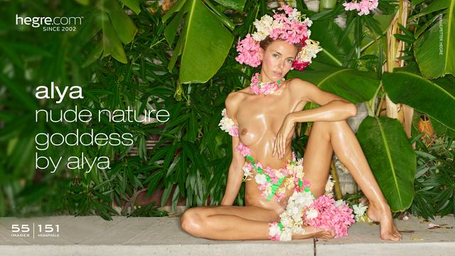 Alya nude nature goddess by Alya