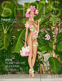 Alya nude nature goddess by Alya