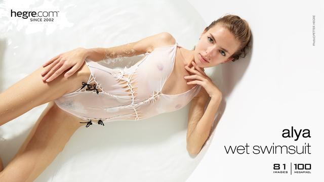 Alya wet swimsuit