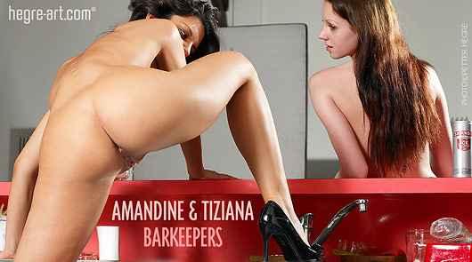 Amandine und Tiziana Barmädchen