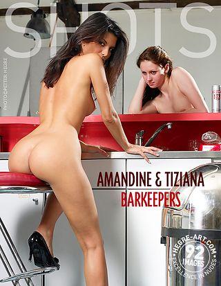 Amandine and Tiziana bar keepers