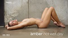 Amber hot wet day
