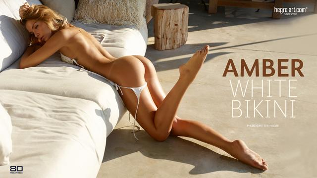 Amber bikini blanc