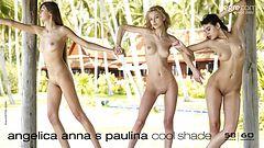 Angelica, Anna S y Paulina sombra fresca