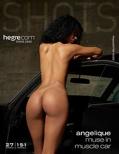Angelique muse in muscle car