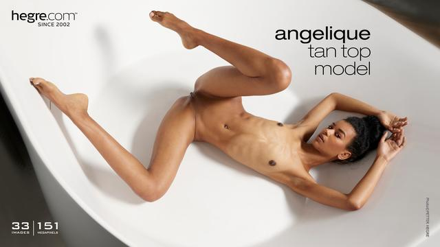 Angelique tan top model