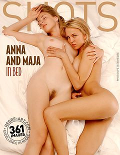 Anna and Maja in bed