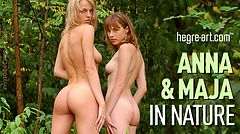 Anna and Maja in nature