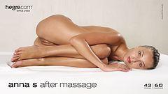 Anna S después del masaje