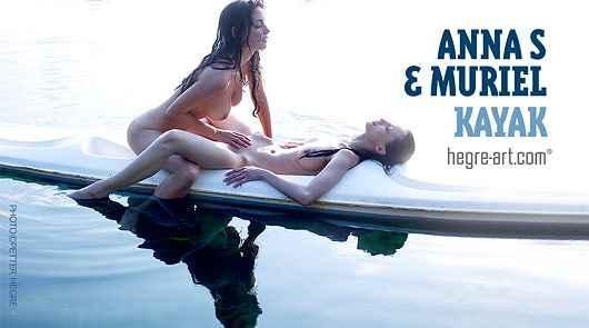 Anna S and Muriel kayak