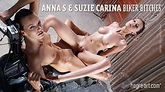 Anna S and Suzie Carina biker bitches