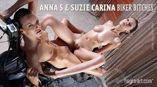 Anna S and Suzie Carina biker bitches