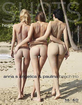 Anna S., Angelica, Paulina beach trio