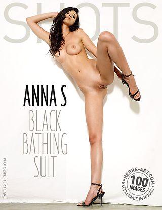 Anna S black bathing suit